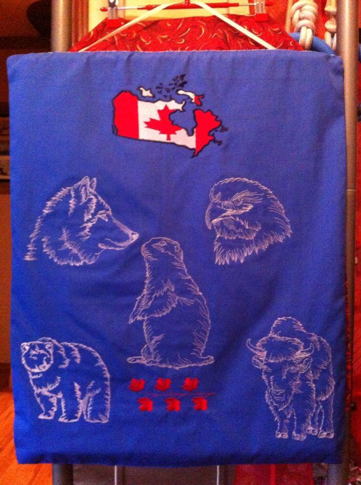 Панно о Канаде вышивка