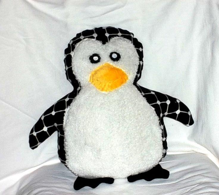 Grand COUSSIN pingouin, coussin doudou pingouin pour enfant : Textiles et tapis par paquita-14400