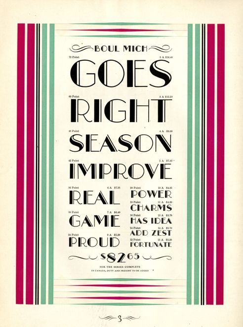 Typefaces from 20s and 30s