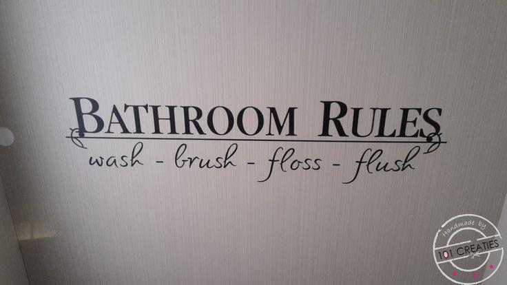 Tekst in de toiletruimte van onze caravan.