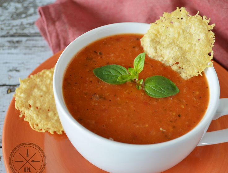 Creamy Tomato Bisque - Our Paleo Life.  This one is a big hit in our family!  (But we nix the Parmesan crackers)