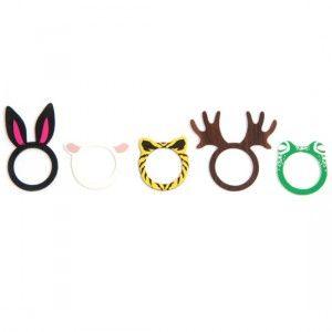 Cute animal ears rings