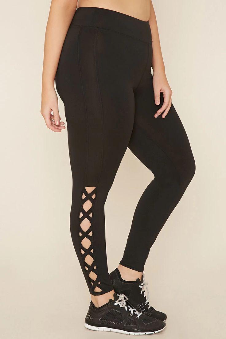 Plus Size Crisscross Leggings