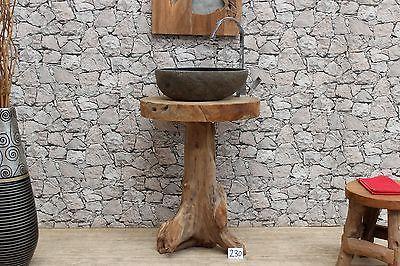 Unterschrank Waschbecken Waschtisch Badezimmer Bad Möbel Badschrank massiv Holz