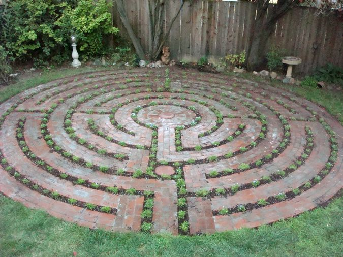 Santa Rosa Labyrinth design could do this in a small space for a peaceful, prayerful walk