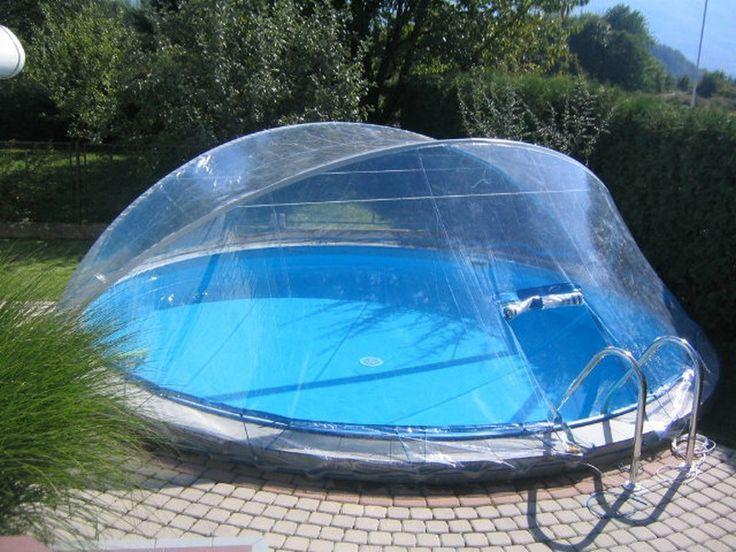 Stahlwandpool im garten  25+ parasta ideaa Pinterestissä: Cabrio dome | Schwimmbadheizung ...