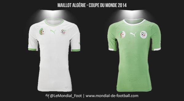 Maillots de l'Algérie pour la Coupe du Monde 2014 #FIFAWC #WC2014 #CM2014