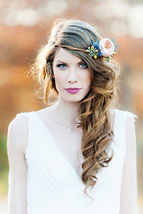 44 Wedding-Worthy Hairstyles With Flower Crowns—Plus, Pro Tips On How To Pull Off The Look : Lucky Magazine