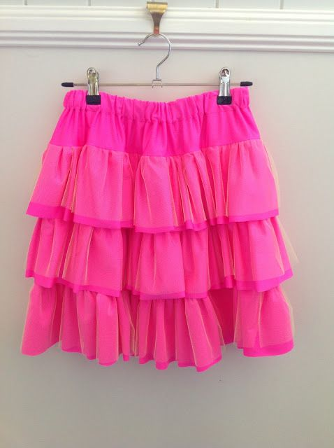 on a sewing streak funky 80 s and those fluro tutus