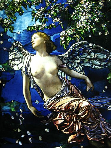 Beautiful  stained glass  - Tiffany Glass Window  Actually I think this is LaFarge!