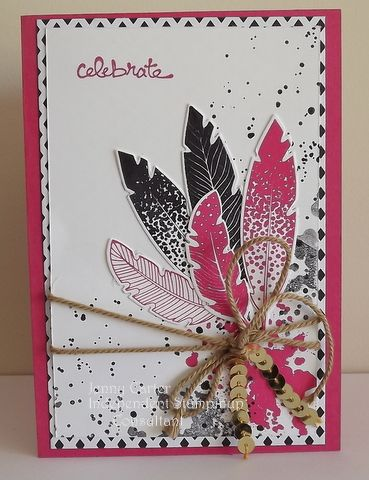 the feather stamp set in new catalouge