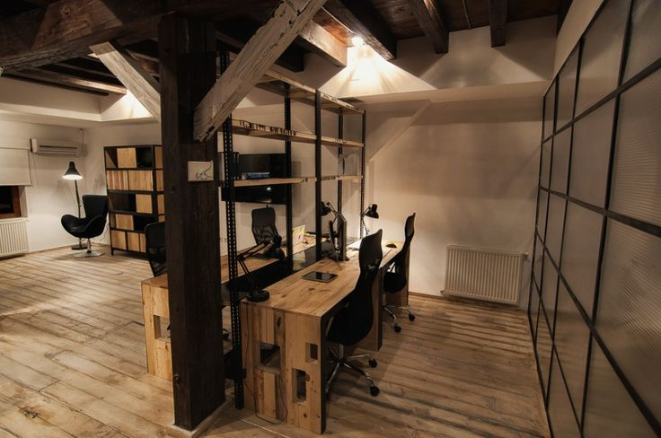 nice modern rustic office new harbor farm office. Black Bedroom Furniture Sets. Home Design Ideas