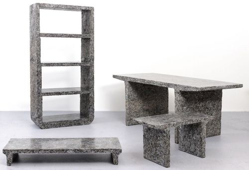 Furniture Made from Shredded Elle Decor Magazines by Jens Praet Photo