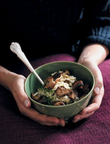 Roasted wild mushroom and parsley risotto