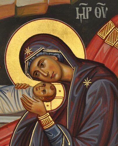 Detail from a Nativity icon