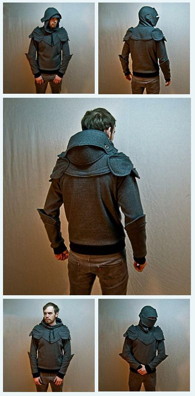OMG WANT: Grey Knight Armored Hoodie