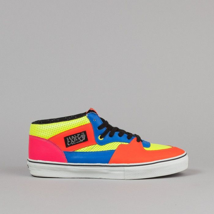vans half cab blue and yellow
