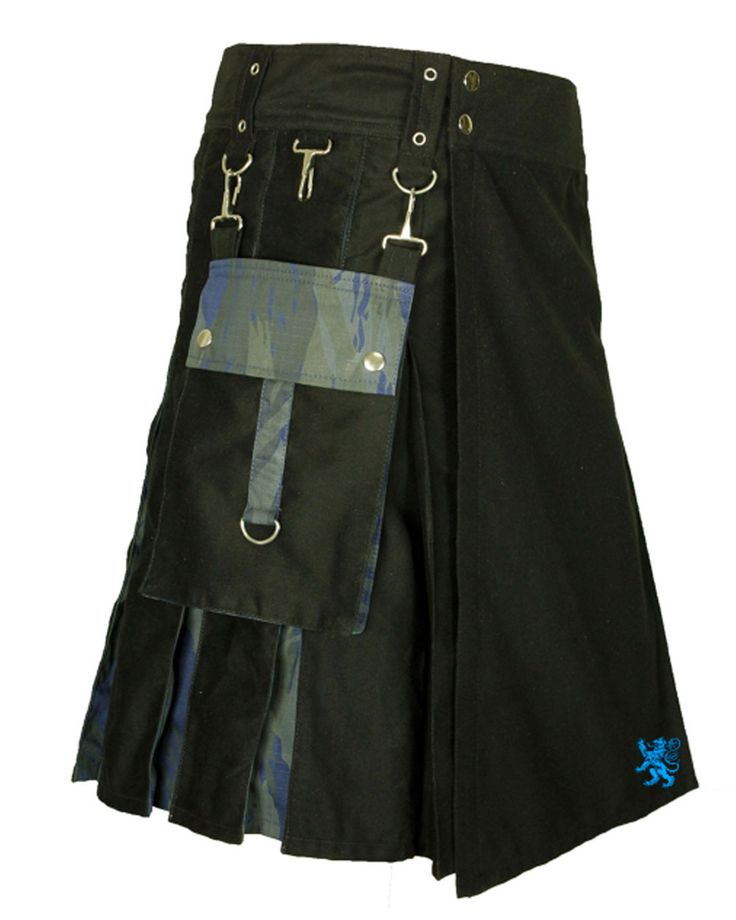 Cargo style pocket with magazine holders and rugged design make Hybrid Tactical kilt for Adventurous Men perfect choice for taking to the field for training and adventures, This is perfect kilt for shooting ranges and trips. . The Hybrid Tactical kilt for Adventurous Men is tailored to work hard for you, keeping you cool and comfortable through all of your activities. #KiltsForMen #HybridKilts #KiltsForSale