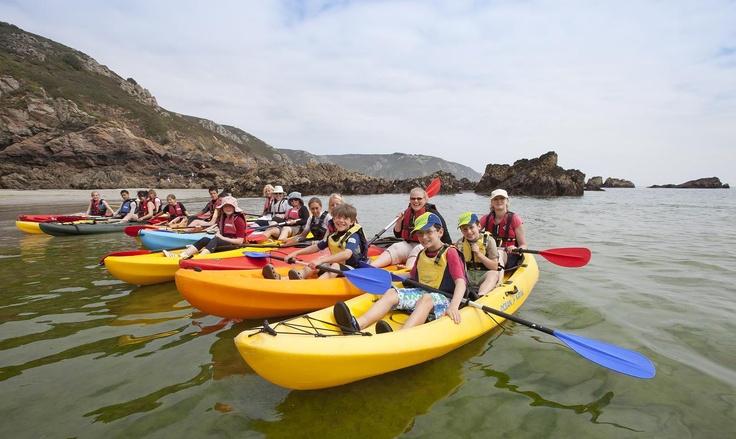 Ocean Kayaking in Guernsey