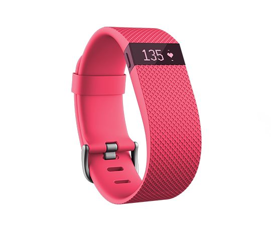 PINK!!! Fitbit Charge HR. Want!