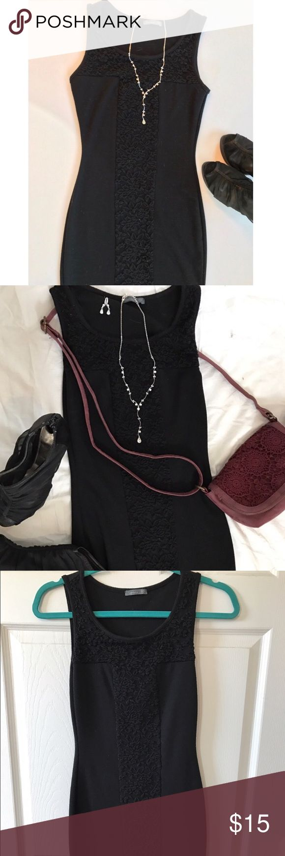 NWOT Little black cocktail dress Cute and sexy little black cocktail dress. Brand new body con. Dress it up or down. Every girl needs a little black dress 😉 Soprano Dresses Mini