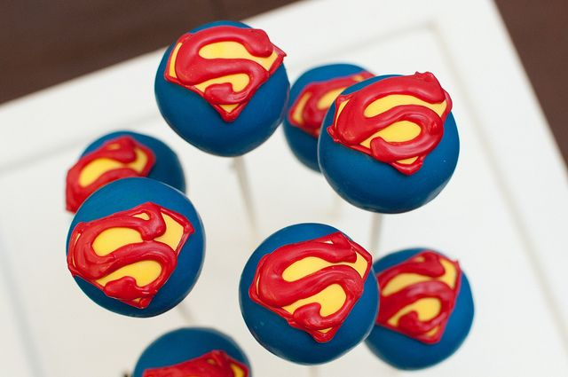superhero themed bridal shower bridal shower: Food, Superhero Party, Cake Pops, Superman Cakes, Cake Pops, Superhero Cake, Party Ideas, Birthday Party