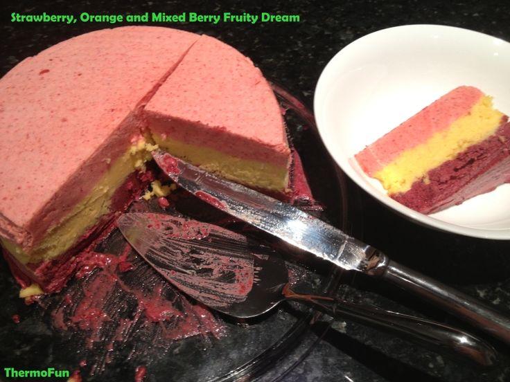 Layered Fruity Dream Icecream Cake