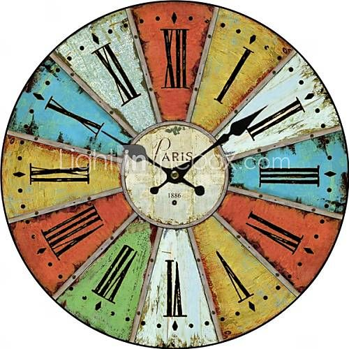[USD $ 39.99] Euro Country Wall Clock