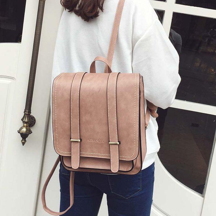 2017 Fashion new women travel backpack Students High Quality Pu Leather backpack women School Shoulder Bags Mochila - http://backtoschools.org/?product=2017-fashion-new-women-travel-backpack-students-high-quality-pu-leather-backpack-women-school-shoulder-bags-mochila