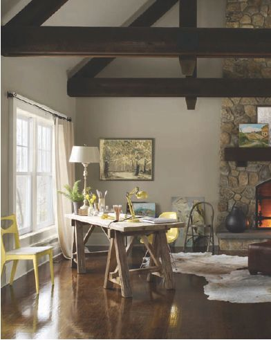 Ben Moore Thunder: Wall Colors, Paintings Colors, Dark Wood, Paint Colors, Thunder Colors, Paintings Inge Fabrics Colors, Paintcolors, Wood Beams, Colors Decorating