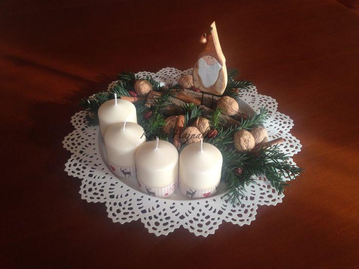 Egyedi adventi koszorú készítése, házilag, csináld magad, DIY, adventi készülődés, karácsonyi dekoráció, írta: Kocsis Hajnalka
