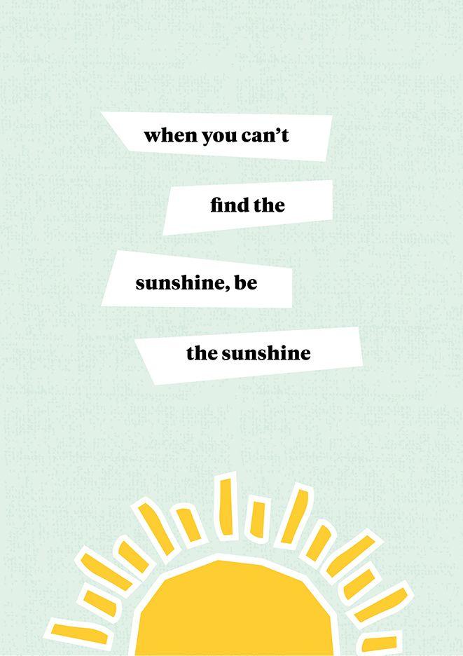 Be the sunshine - free printable wall art