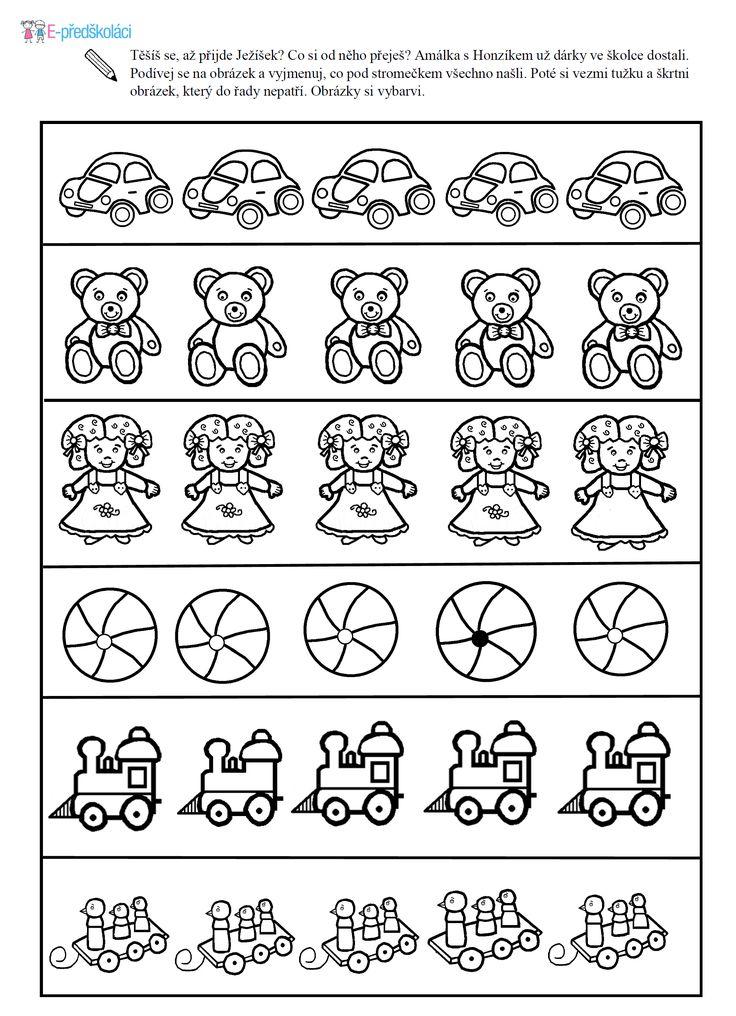 Pracovní list - hledání rozdílů - hračky