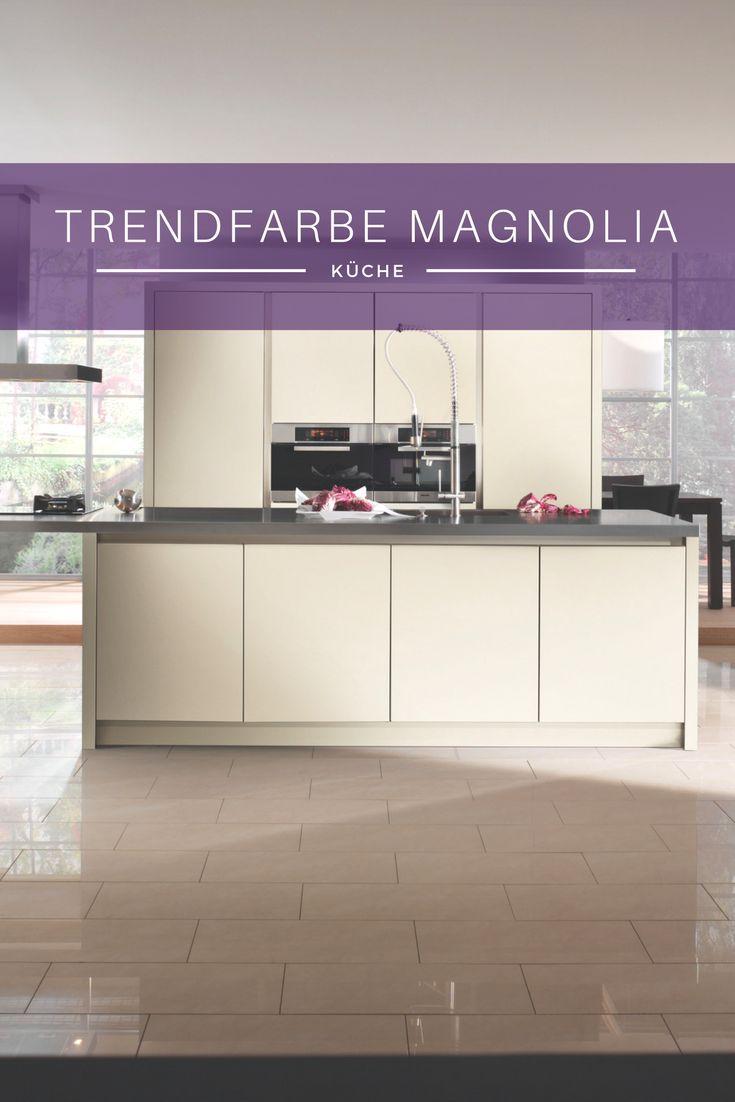 Küchenfarbe magnolie magnolia creme beige küche kücheninsel idee