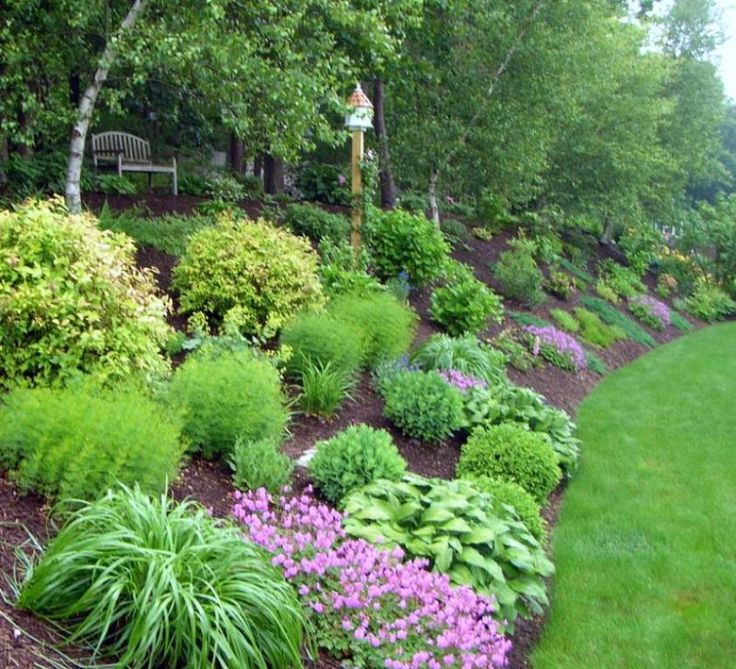 Landscape ideas for a slope images for Garden design pinterest