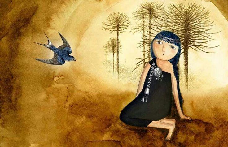 Mapuche y golondrina