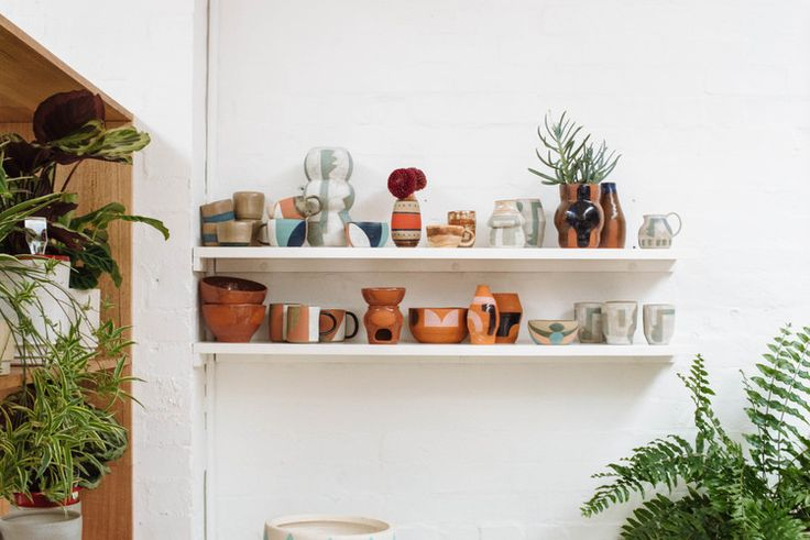 New Amy Leeworthy Ceramics in the Pop & Scott Showroom. Image by Bobby + Tide