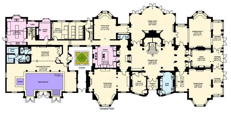 Heath hall main level architecture plans pinterest for Estate blueprints