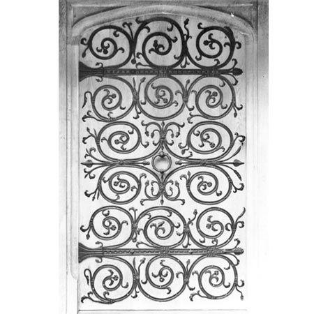 Tangley Manor: Decorative hinges for door