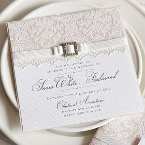 Elegant White Lace Invitation
