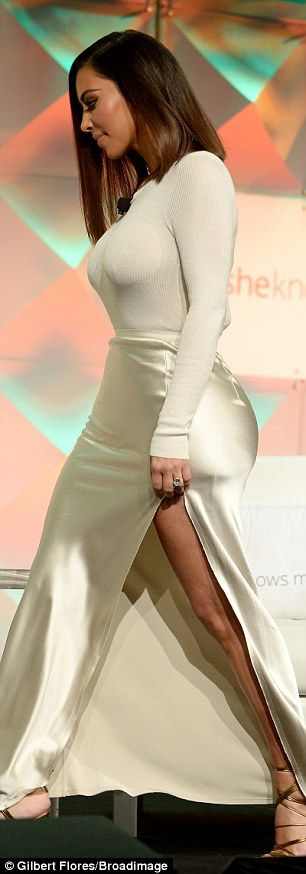 Perseverance: The star's figure-hugging outfit allowed her to show off how well she's regained her figure after giving birth last December