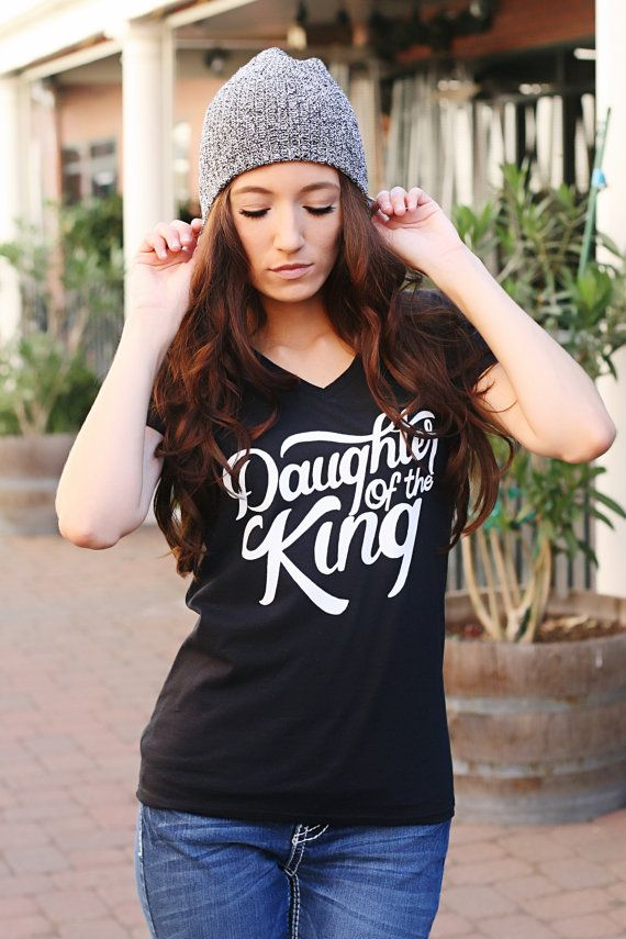 Daughter of the King Tshirt, Christian clothing, Christian tshirt, Christian shirt, 2 Corithians 6:18- Black