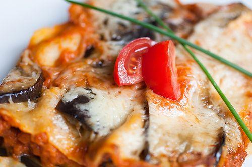 Lilkové #lasagne s mozarellou / #Eggplant lasagna with mozzarella // www.bistrofranz.cz