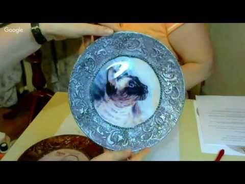 Татьяна Маркова Чайная тарелка - YouTube decoupage plate
