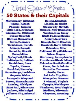 50 Facts About the 50 State Capitals