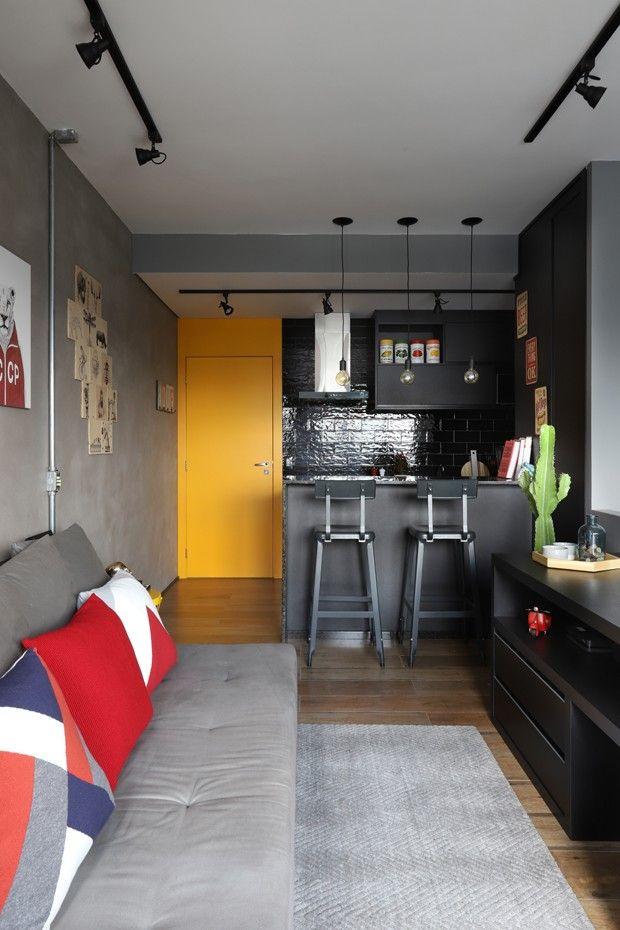 Apartamento De 50 M Com Decor Industrial E Reformado Em 45 Dias