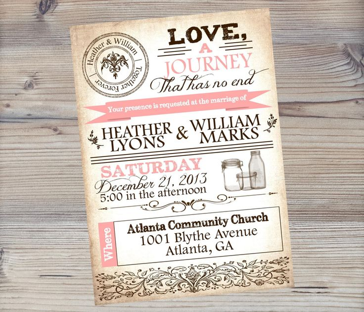 mason jar wedding invitation