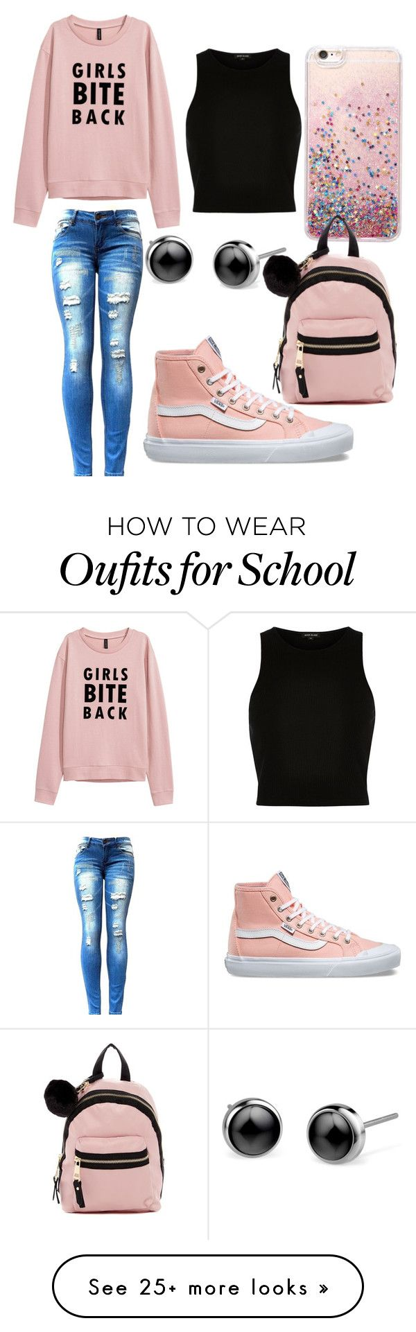 """""""Originally School Time..... but IDK"""" by nyxqueen on Polyvore featuring River Island, Vans and Madden Girl"""