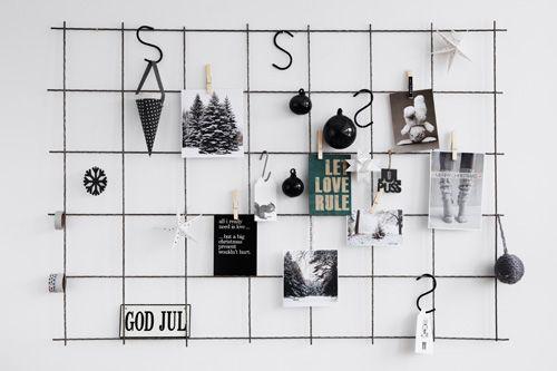 Hitta hem: D I Y. a modern display board for christmas