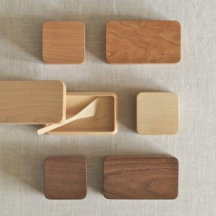 KAKUDE WOOD BUTTER DISH  Designed by Oji Masanori and handcrafted at the Takahashi Kougei wood workshop in Hokkaide  (김수아)